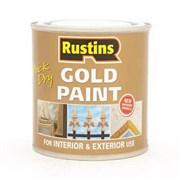 Краска быстросохнущая золотая Gold Paint 250мл Rustuns