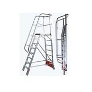 Лестница с платформой VARIO Kompakt, траверса 750
