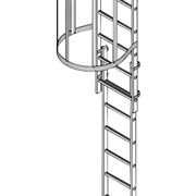 Стационарная лестница для зданий алюминий