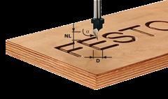 Фреза HS S8 D11/60° шрифтовая Festool
