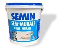 Клей SEM-MURALE (синяя крышка) для наклейки тонких деформирующихся обоев Semin