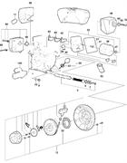 Запчасти на электро старт двигателя Hatz 1B30 EPA