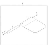 Запчасти на пластину для размещения блоков  LF 80 L Husqvarna