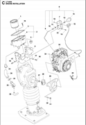 Запчасти на двигатель LT 6005 Husqvarna