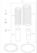 Комплект для ремонта пружинного блока  LT 6005 Husqvarna