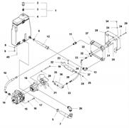 Запчасти на гидравлическую систему и масляной бак LP 6505 Husqvarna