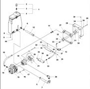 Запчасти на гидравлическую систему и масляной бак LP 7505 Husqvarna
