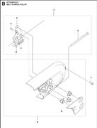 Запчасти на защиту ремня и шкив  К770 Husqvarna