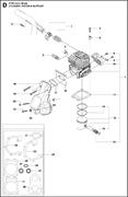 Запчасти на цилиндр, поршень и глушитель K 760 Cut-n-Break Husqvarna