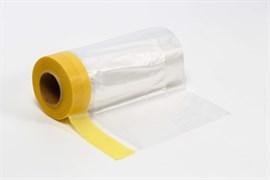 Пленка укрывная с малярной лентой золотая бумага Storch