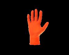 Перчатки Jsn Natrix нескользящие одноразовые оранжевые нитриловые