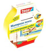 Лента малярная желтая Четкий край 25 м ×25  мм (5 мес) Tesa