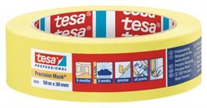 Лента малярная четкий край Желтая (6мес) Tesa