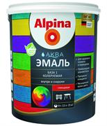 Эмаль акриловая Alpina Аква Эмаль для окон и дверей глянцевая 0,9 л