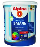 Эмаль акриловая Alpina Аква Эмаль для радиаторов колерумая 0,9 л