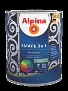 Эмаль алкидно-уретановая Alpina по ржавчине 3в1 0,75 л