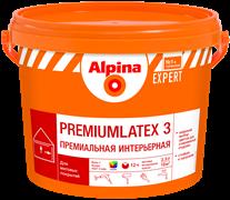 Краска водно-дисперсионная Alpina EXPERT Premiumlatex 3, 3 база