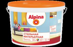 Краска водно-дисперсионная Alpina стильная интерьерная 3 база