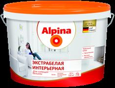 Краска водно-дисперсионная Alpina экстрабелая интерьерная белая