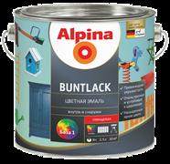 Эмаль алкидная Alpina Buntlack SM шелковисто-матовая 1 база