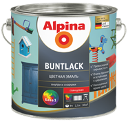 Эмаль алкидная Alpina Buntlack SM шелковисто-матовая 3 база