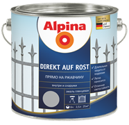 Эмаль по металлу Alpina Direkt Auf Rost 2,5 л