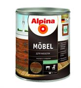 Лак алкидный Alpina Mobel GL для мебели шелковисто-матовый не колеруемый