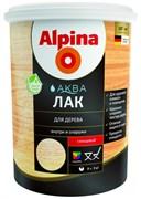 Лак акриловый Alpina Аква лак для дерева глянцевый колеруемый