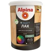 Лак акриловый Alpina Аква лак для стен и потолков шелковисто-матовый колеруемый
