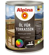 Состав лессирующий Alpina масло для террас Transp прозрачное колеруемое