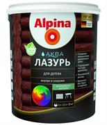 Антисептик лессирующий Alpina Аква лазурь для дерева цветная Черный