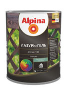 Антисептик лессирующий Alpina Лазурь-гель для дерева шелковисто-матовый колерумый