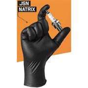 Перчатки Jsn Natrix нескользящие одноразовые черные нитриловые, 10 шт/уп