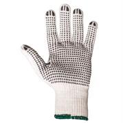 Перчатки трикотажные из хлопковой пряжи c точечным ПВХ покрытием JD011