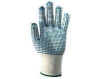 Перчатки трикотажные из полиэстеровой пряжи c точечным ПВХ покрытием JD021