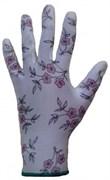 Перчатки защитные из полиэстеровой пряжи c полиуретановым покрытием JP011, цвет рисунок, размер L