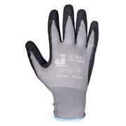 Перчатки защитные промышленные трикотажные из синтетической пряжи (полиэстер) с латексным покрытием ладони JL061