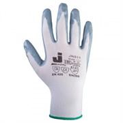 Перчатки защитные промышленные трикотажные из синтетической пряжи (полиэстер) с нитриловым покрытием ладони JN011