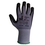 Перчатки защитные промышленные трикотажные из синтетической пряжи (полиэстер) с микронитриловым покрытием ладони JN031