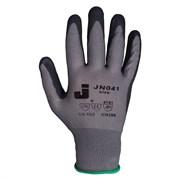 Перчатки  защитные промышленные трикотажные из синтетической пряжи (полиэстер) с пенонитриловым покрытием ладони JN041