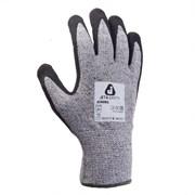 Перчатки промышленные трикотажные для защиты от порезов (5 класс) из синтетической пряжи (полиэтилен) с нитриловым покрытием ладони JCN061